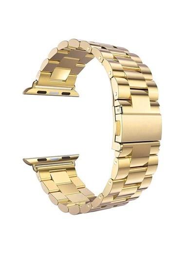 Microsonic Apple Watch SE 40mm Metal Stainless Steel Kordon Altın